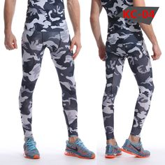 6df74f850ec5c 2016 Camouflage Pantalon Hommes Fitness Hommes Joggers Pantalon Mâle  Pantalon De Compression Bodybuilding Collants Leggings