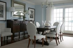 Contemporary Dining Room Furniture Set with White Dining Chairs Selecting Dining Room Sets and Table Beach Dining Room, Dining Room Buffet, Dining Room Sets, Dining Room Design, Dining Room Furniture, Dining Chairs, Dining Table, Table Lamps, Ikea Dining