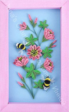 Bumblebees and flowers. Quilling | Flickr - Photo Sharing!