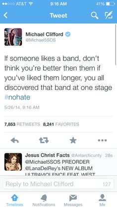 MICHAEL IS PREACHIN IT TODAY! I do feel ad but I just hate when people lie and say they were fans from the beginning when they weren't.>>I became a fan about 2 months ago and I agree with the pinner before me and with michael becausae noone should get hate just because of when they joined a fandom