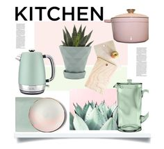 """Dream Kitchen'"" by dianefantasy ❤ liked on Polyvore featuring interior, interiors, interior design, home, home decor, interior decorating, Chive, Breville, Threshold and Sarah Cihat"