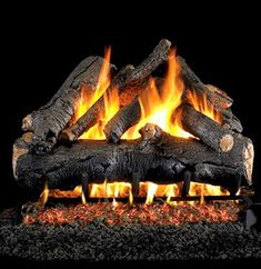 Peterson Real Fyre American Oak Gas Log Set With Vented Propane Ansi Certified Burner - Basic On/Off Remote Gas Fireplace Logs, Gas Fireplaces, Fireplace Ideas, Fireplace Fronts, Fireplace Stone, Fireplace Inserts, Electric Fireplace, Fireplace Design, Gas Insert