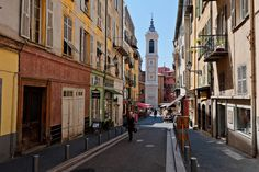 Editorial Travel Photography: Street of Old Nice, French Riviera, Cote d'azur, France