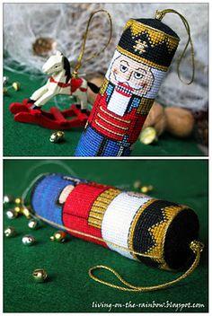 Nutcracker ornament paint it on a toilet paper roll