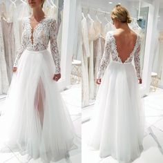 30 Simple Wedding Dresses For Elegant Brides ❤️ simple wedding dresses ball gown with long sleeves lace top maggiesotterodesigns Causal Wedding Dress, Rainbow Wedding Dress, How To Dress For A Wedding, V Neck Wedding Dress, Top Wedding Dresses, Wedding Dress Trends, Long Sleeve Wedding, Princess Wedding Dresses, Bridal Dresses