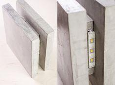 Lámpara de pared de hormigón SC 3 hechos a mano. Lámpara por dtchss                                                                                                                                                                                 Más
