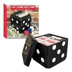 Global Gizmos 6 In 1 Game Set - Traditional Fun Games including Dice, Poker, Draughts, Chess, Dominoes, Cards,… #poker #game #toys Poker Games, Chess, Fun Games, Dice, Traditional, Toys, Gingham, Cool Games, Activity Toys