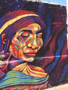 Santa Marta street art. Guache