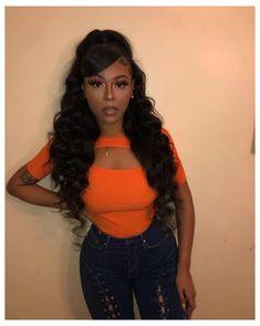 Black Girl Prom Hairstyles, Long Ponytail Hairstyles, Hair Ponytail Styles, Weave Ponytail Hairstyles, Braided Hairstyles For Black Women, Baddie Hairstyles, Short Hair Styles, Natural Hair Styles, Cute Prom Hairstyles