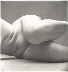 Nude No. 57  Irving Penn  (American, Plainfield, New Jersey 1917–2009 New York City)  Date: 1949–50 Medium: Gelatin silver print Dimensions: Image: 39.4 x 37.5 cm (15 1/2 x 14 3/4 in.) Classification: Photographs Credit Line: Gift of the artist, 2002 Accession Number: 2002.455.20 Rights and Reproduction: © 1950-2002 Irving Penn    http://metmuseum.org/Collections/search-the-collections/190038350#