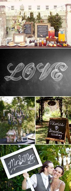 Wedding Trend: Chalkboards
