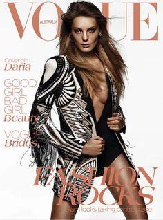 Daria Werbowy, portada y editorial de Vogue Australia (junio 2012)