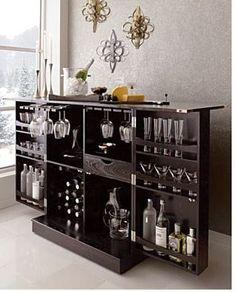 The Steamer Bar Cabinet and Wine Storage by Crate » Furniture Fashion Modern Interior Home Decorating Magazine #WineStorage