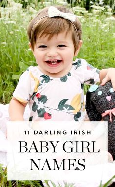 11 Irish Baby Girl Names That Are Sweet and Totally Darling - Adorable Baby Names - Ideas of Adorable Baby Names - These 11 adorable Irish baby names for girls will help you cherish the heritageand wow your friends with your originality too. Irish Baby Girl Names, Baby Girl Names Spanish, Southern Baby Names, Names Girl, Irish Girls, Strong Girl Names, Country Girl Names, Adorable Girl Names, Sweets