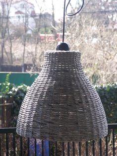 lampa 1 z papierowej wikliny hand made eko