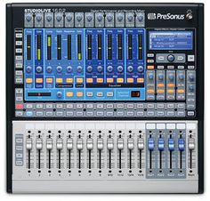 Read up on the PreSonus StudioLive 16.0.2 Compact Digital Console.  I bought this board for my home studio and to use as a live mixer at band gigs.  It's small and it rocks!