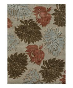 Take a look at this Beige Floral Grant Rug by Loloi Rugs on #zulily today!
