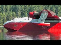 Here's a special video of a very rare, impressive aircraft, the Martin Mars water bomber. This aircraft is the worlds largest flying boat and currently the o. Fighting Plane, Amphibious Aircraft, Post War Era, Float Plane, Engine Start, Flying Boat, Nose Art, Aviation Art, Vancouver Island