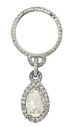 JAR diamond pendant ring   Christie's Geneva   La Beℓℓe ℳystère