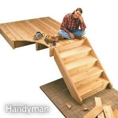 How to Build Deck Stairs- Our stairs are scary and I want to build new ones that are safe.