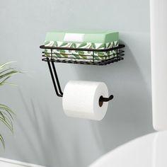 Classico Wall Mount Toilet Paper Holder with Shelf Steel Wall, Easy Bathroom Updates, Bathroom Toilets, Toilet Paper, Wall Mounted Toilet, Toilet Paper Holder, Bathroom Decor, Toilet, Bathroom