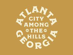 Atlanta by Jacob Boyles Types Of Lettering, Lettering Design, Logo Design, Hand Lettering, Typography Letters, Typography Logo, Logo Branding, Great Logos, Game Logo