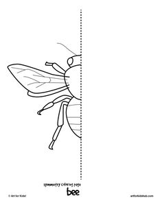 Insects Worksheets for Kindergarten 10 Free Coloring Pages Bug Symmetry Art for Kids Hub Cc Drawing, Drawing Lessons, Art Lessons, Drawing Ideas, Art Worksheets, Kindergarten Worksheets, Symmetry Worksheets, Documents D'art, Classe D'art