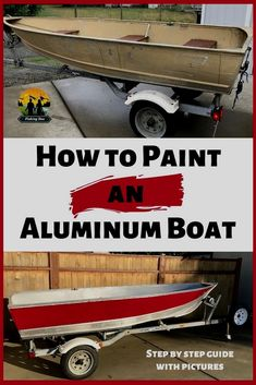 Aluminum boats get used and abused. At some point, it's time to breathe new life into a boat with a fresh coat of paint. We've decided to share our trials of painting an aluminum boat with you. Fishing Boat Names, Fishing Boats For Sale, Small Fishing Boats, Sport Fishing Boats, Small Boats, Tuna Fishing, Fly Fishing, Trout Fishing, Fishing Tips