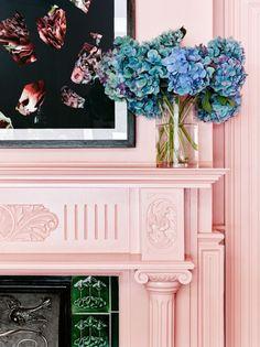 Pink + hydrangeas.