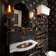 Steampunk Bathroom.