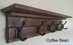 Coat Rack Farmhouse Coat Rack Coat Rack With Shelf Entryway Entryway Coat Rack, Entryway Shelf, Coat Rack Shelf, Rustic Entryway, Wall Mounted Coat Rack, Coat Hanger, Coat Hooks With Shelf, Foyer, Rustic Coat Rack