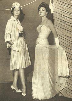 https://flic.kr/p/8oZYbn | Madame Rosita and Signorinella | Models by:Madame Rosita and Signorinella.Brazilian Magazine:O Cruzeiro,December 1960.