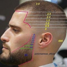 This unique photo is an unquestionably inspiring and ideal idea Beard Cuts, Beard Fade, Barber Haircuts, Haircuts For Men, Modern Haircuts, Hair Cut Guide, Barber Tips, Gents Hair Style, Hair Cutting Techniques