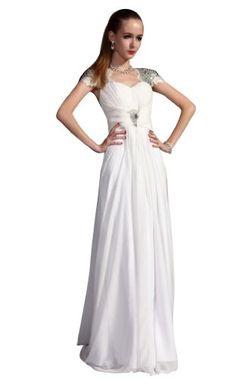 Kingmalls Womans White Elegant Queen Style Wedding « Dress Adds Everyday