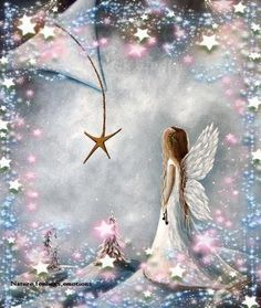 Somewhere,over the rainbow (Members Only) Tomorrow is a new day and a new start to make things th I Believe In Angels, Angel Pictures, Angels Among Us, Guardian Angels, Angel Art, Fairy Art, Over The Rainbow, Christmas Angels, Christmas Star