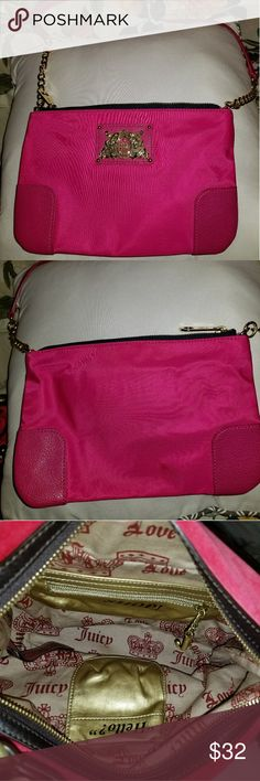 Juicy Couture Pink Shoulder Bag with Strap Never used. Clean inside and out. Comes from smoke free PET free home. Juicy Couture Bags Shoulder Bags