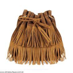 Bolsa Saco com Franjas - Bolsas   DMS Boutique