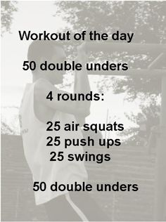 A real SOB crossfit workout. Developing a love/hate relationship w/CF. :)