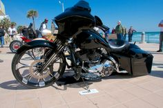 Scott Romijn pulls out all the stops and rebuilds his 2008 Harley-Davidson Street Glide into a wild 30-inch front wheel custom bagger worthy of any bike show.