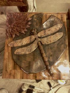 Red oak- dragonfly on lily pad with flower available@ http://cgi.ebay.com/ws/eBayISAPI.dll?ViewItem=200730594573=STRK:MESE:IT