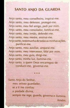 Anjo Santo me ajude a guardar minha alma.