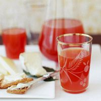 Apple Cider Punch...A tasty beverage for any Fall or Winter holiday party. I used Asti sparkling wine and the cran-raspberry juice. Was a nice change-up from traditional punchbowl concoctions.