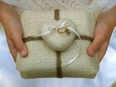 Burlap Ring Pillow Bearer