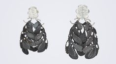 Anna Vlahos Earrings: Lion Flower Earrings, 2014 Sterling Silver 5.5x3.5cm © By the author. Read Klimt02.net Copyright.
