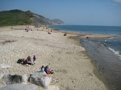 Charmouth Beach- The beach is a mixture of shingle with an expanse of sand when the tide is out. There are two cafes, a fossil shop, the Heritage Coast Centre and a clothes shop.