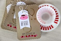 Valentine's Day Treat Pouches by Erin Lincoln for Papertrey Ink (December 2014)