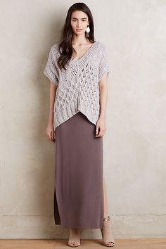 Side-Split Maxi Skirt #anthropologie