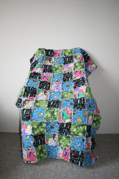 Boys toddler bed sized rag quilt, or twin topper