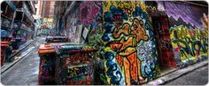 the amazing graffiti walls of Hosier Lane, Melbourne. such amazing artwork. Amazing Artwork, Cool Artwork, Melbourne Laneways, Graffiti Wall, I Want To Travel, Road Trippin, Street Art, Walls, Spaces