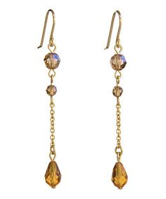 Another great find on #zulily! Gold & Amber Elegance Earrings Made With SWAROVSKI ELEMENTS #zulilyfinds